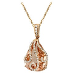 Yael Designs Morganite Diamond and Rose Gold Pendant