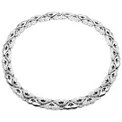 Bulgari Nuvole Platinum 12 Carat Diamond Platinum Choker Necklace