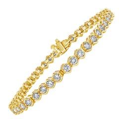 4.25 Carat Round Diamond Bezel Tennis Bracelet