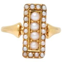 Natural Pearl Cluster Rings