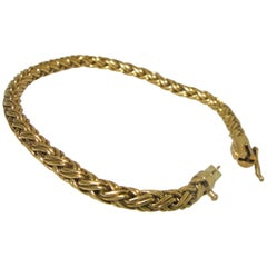 Tiffany Braided Gold Bracelet