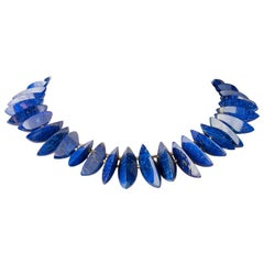 Lapis Lazuli and 22 Karat Gold Beaded Necklace
