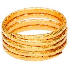 22 Karat Gold Coil Band Ring