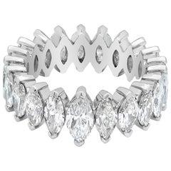4.88 Carat Marquise Cut Diamond Eternity Wedding Band