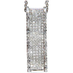2.00 Carat Diamonds Long Zen Mod Pendant 18 Karat Invisible Set