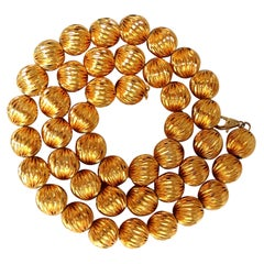 14 Karat Ball Bead Twist Necklace