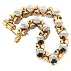 14 Karat Gold Italian Rare Link Bracelet 41 Gram Two-Tone