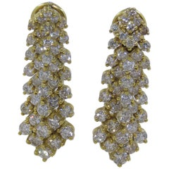 Diamond Earrings Set in 14 Karat Gold 61-10181