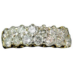 18 Karat 1.50 Carat Ideal Cut Diamonds Band G/VS Petite Prime