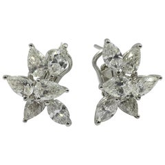 Diamond Earrings Set in 18 Karat White Gold 10015