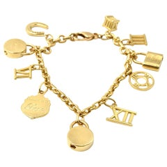 Tiffany & Co. Atlas Collection 18 Karat Yellow Gold Charm Bracelet