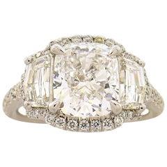 2.01 Carat D VVS2 GIA Diamond Platinum Ring by Ernie Eichberg