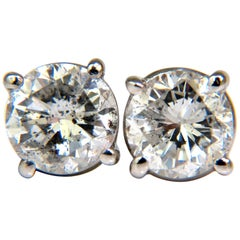 1.30 Carat Brilliant Full Cut Classic Diamond Stud Earrings 14 Karat Sparkle