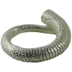 Emer Roberts Solid 18 Karat White Gold Rat Tail Ring