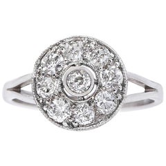 Art Deco 0.85 Carat Diamond Platinum Antique Engagement Ring