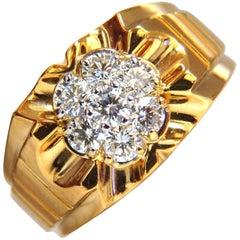 1.00 Carat Natural Diamonds Men's Ring G/Vs 14 Karat