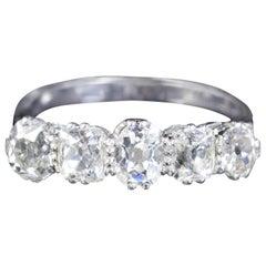 Antique Edwardian 5-Stone Diamond Ring 18 Carat Fancy Cuts, circa 1915