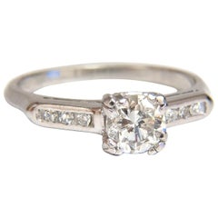 .80 Carat Vintage Old Mine Cut Diamonds Ring Platinum