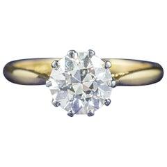Antique Victorian Diamond Engagement Ring 18 Carat Gold, circa 1900