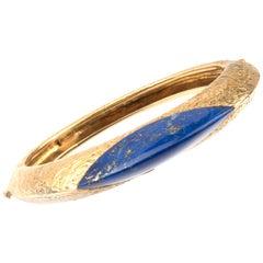 Kutchinsky Yellow Gold and Lapis Lazuli Bangle