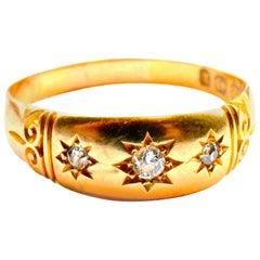 Antique 18 Karat and Diamond Gypsy Ring