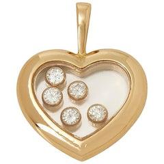 Chopard 18 Karat Yellow Gold Happy Diamonds Heart Pendant