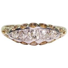 Antique Edwardian 18 Karat Gold Diamond Ring