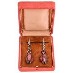 Mutli Gem Physalis Earrings by JAR
