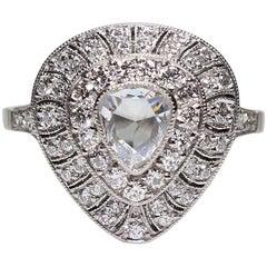 Antique Edwardian Platinum 1.62 Carat Diamond Ring