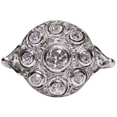 Modern Art Deco Style Platinum Diamond Ring