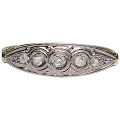 Antique Art Nouveau 18 Karat Gold Diamond Ring