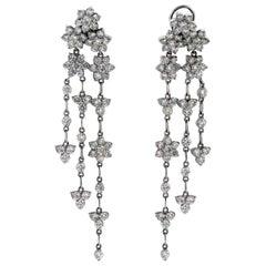Diamond Chandelier Earrings White Gold Stambolian