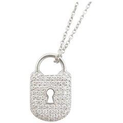 Tiffany & Co. Small Diamond Padlock Necklace