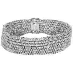 12.24 Carat Seven-Row Diamond Bracelet
