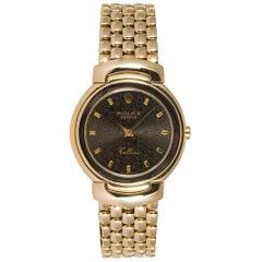 Rolex Midsize Cellini 18 Karat Yellow Gold Jubilee Dial Quartz Watch 6622
