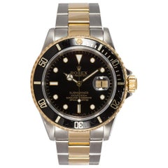 Rolex Men's Submariner Two-Tone 18 Karat Gold and Stainless Steel Watch 16613