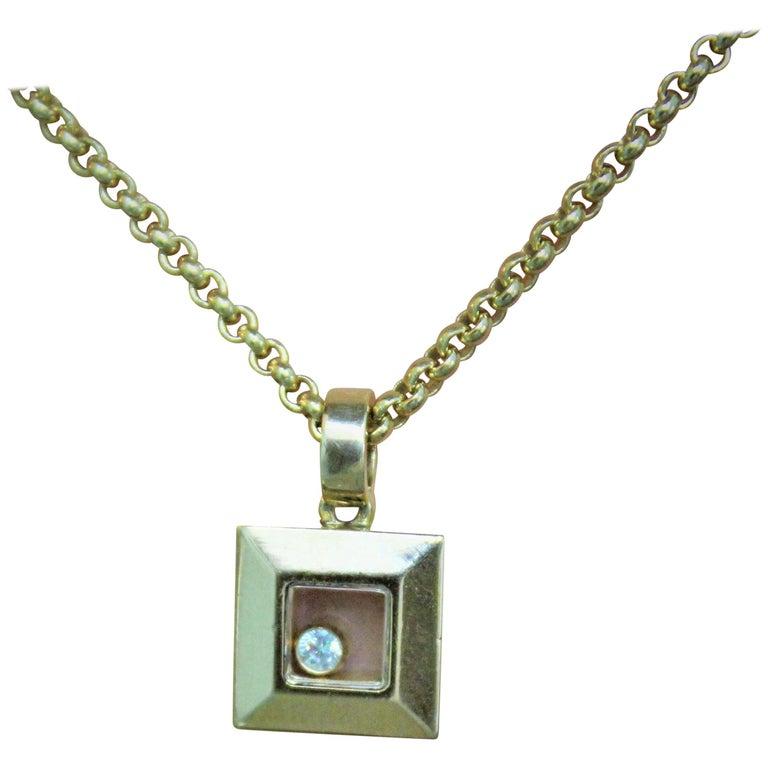 Chopard Yellow 18 Karat Gold Diamond Pendant Necklace
