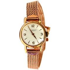 14 Karat IWC Ladies Gold Watch 14 Karat Vintage
