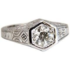 .70 Carat Vintage Old Mine Cut Diamonds Ring 14 Karat