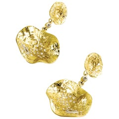 Coomi 20K Serenity Cactus Flower Diamond Drop Earrings