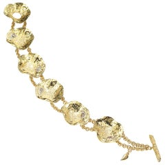 Coomi 20K Serenity Cactus Flower Diamond Bracelet