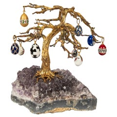 Russian Easter Egg Amethyst Tree