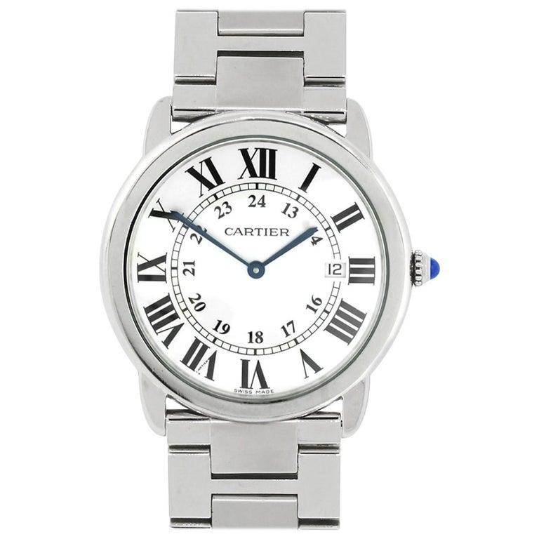 Cartier Stainless steel Ronde Solo Quartz Wristwatch Ref 3603