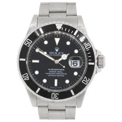 Rolex Stainless steel Submariner Automatic Wristwatch, Ref 16610