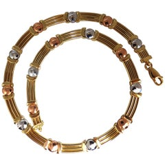 14 Karat Floating Bearing Necklace