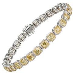 Fancy Yellow Diamonds Tennis Bracelet