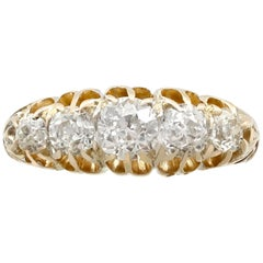 Victorian 1.36 Carat Diamond Gold Five-Stone Ring