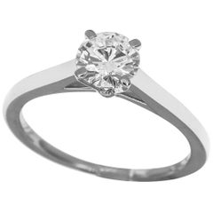 Graff 0.50 Carat Diamond Solitaire Platinum Ring