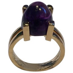 Georg Jensen 18 Carat Gold Ring with Amethyst