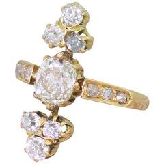 Edwardian 1.20 Carat Old Mine Cut Diamond Ring